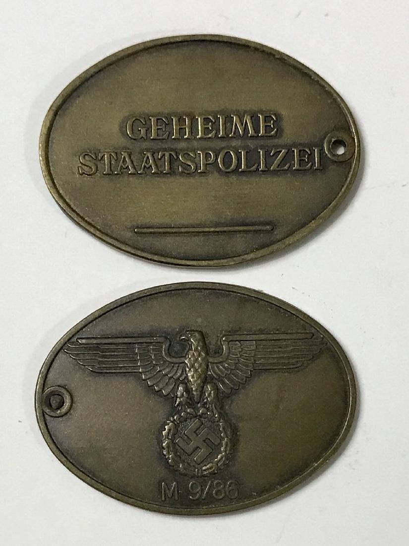 WW2 German Nazi Secret Police Gestapo Disc