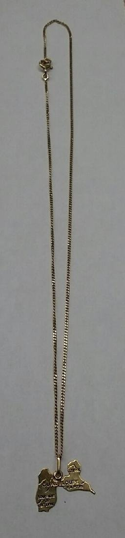 Vintage 18k Gold Necklace & Charm