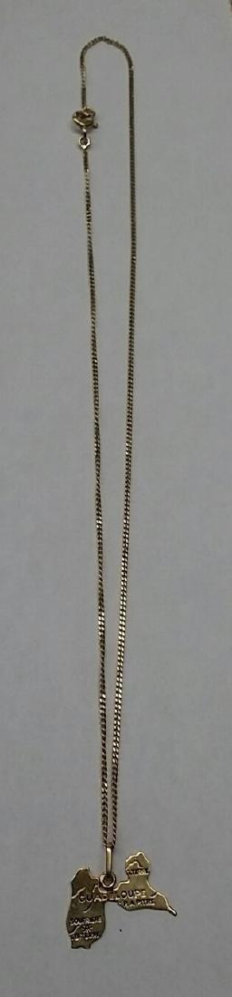 Vintage 18k Gold Necklace & Charm