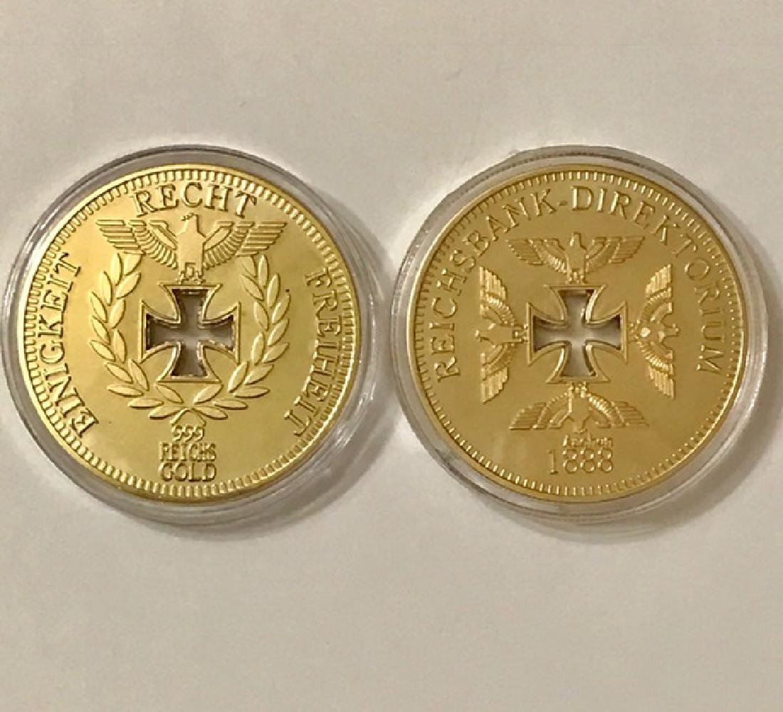 1oz .999 Gold Clad German Iron Cross REICHS Coin