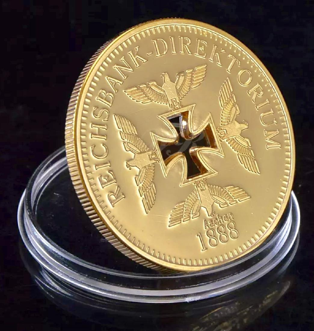 1oz .999 Gold Clad German Iron Cross REICHS Coin - 3