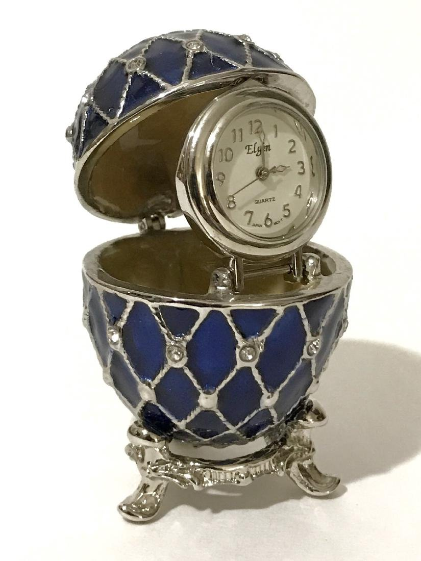 Rare French Enameled ELGIN Timepiece EGG