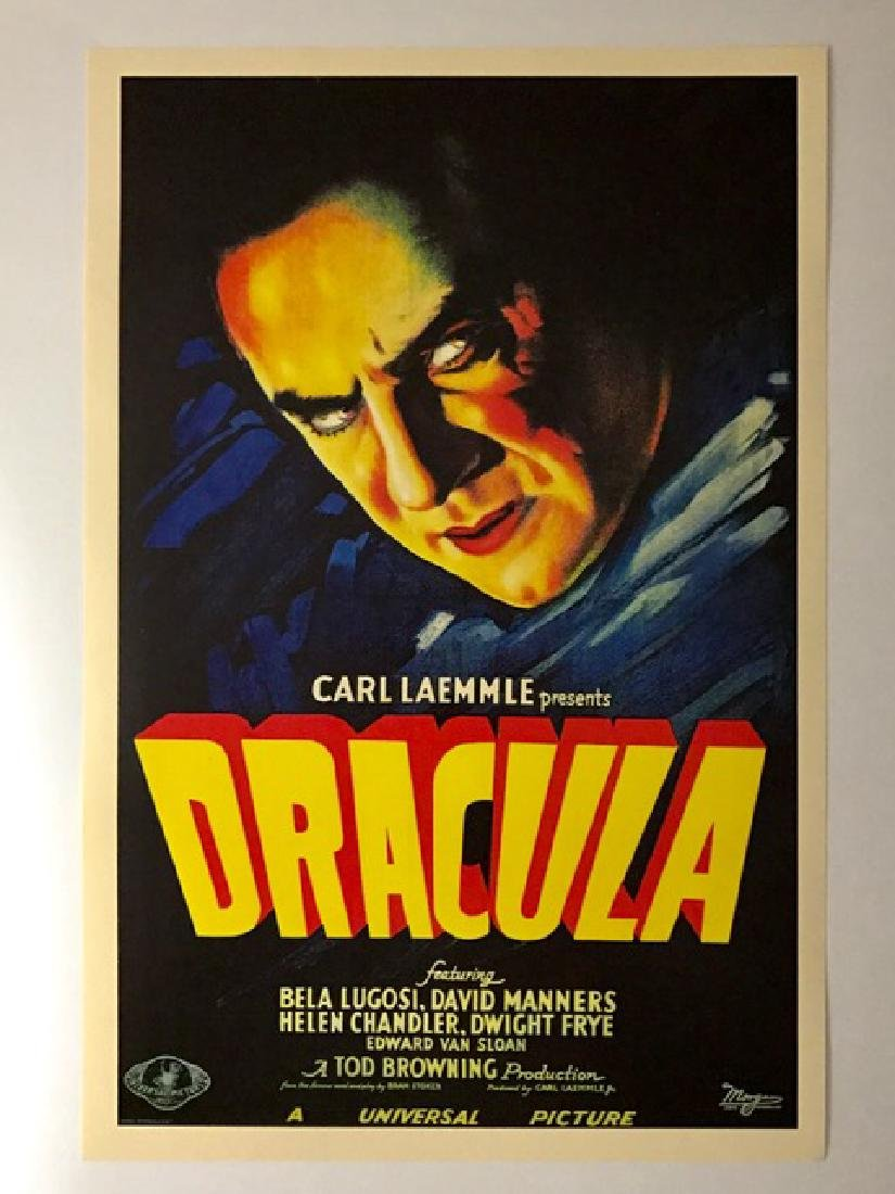 1931 DRACULA Movie Theatre Lobby Card Poster