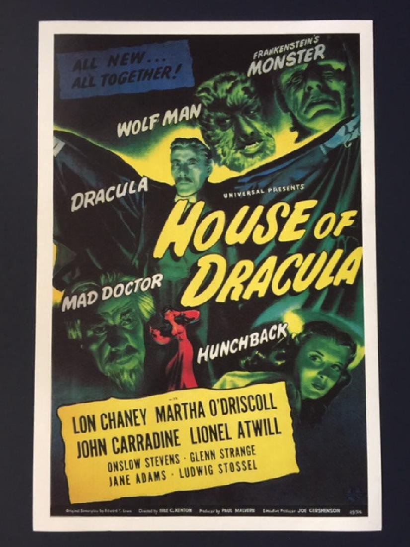 HOUSE of DRACULA Movie Lobby Card Poster