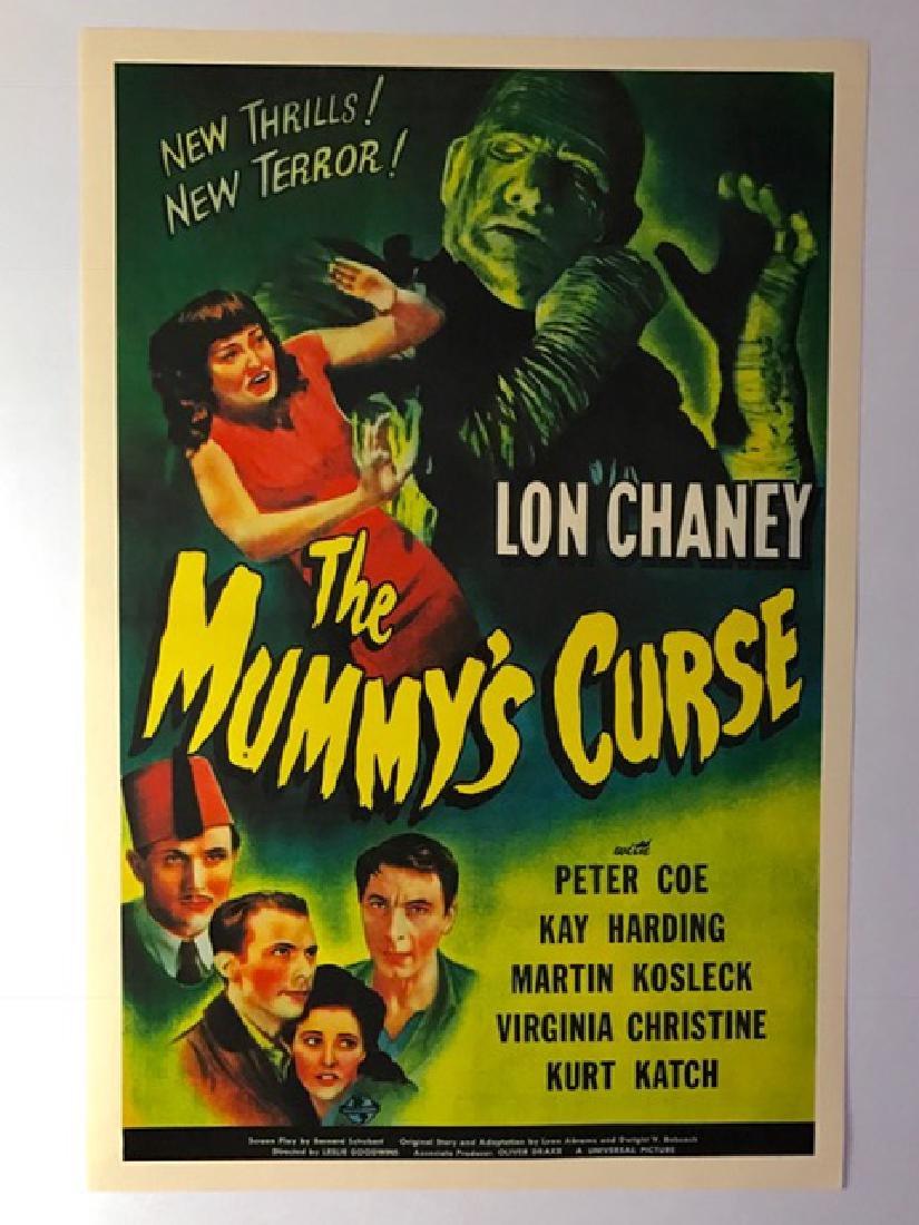 1944 The Mummy's Curse Movie Lobby Card Poster