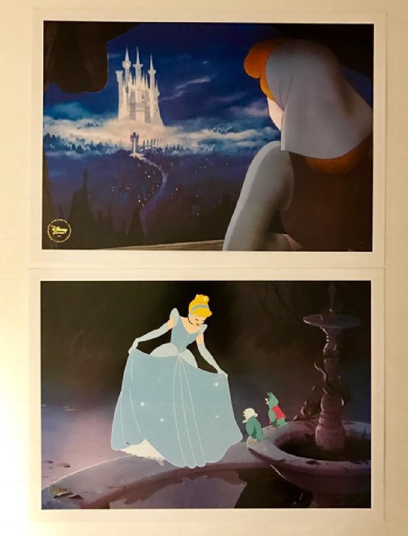 Lot of 2 Authentic Disney CINDERELLA Lithographs