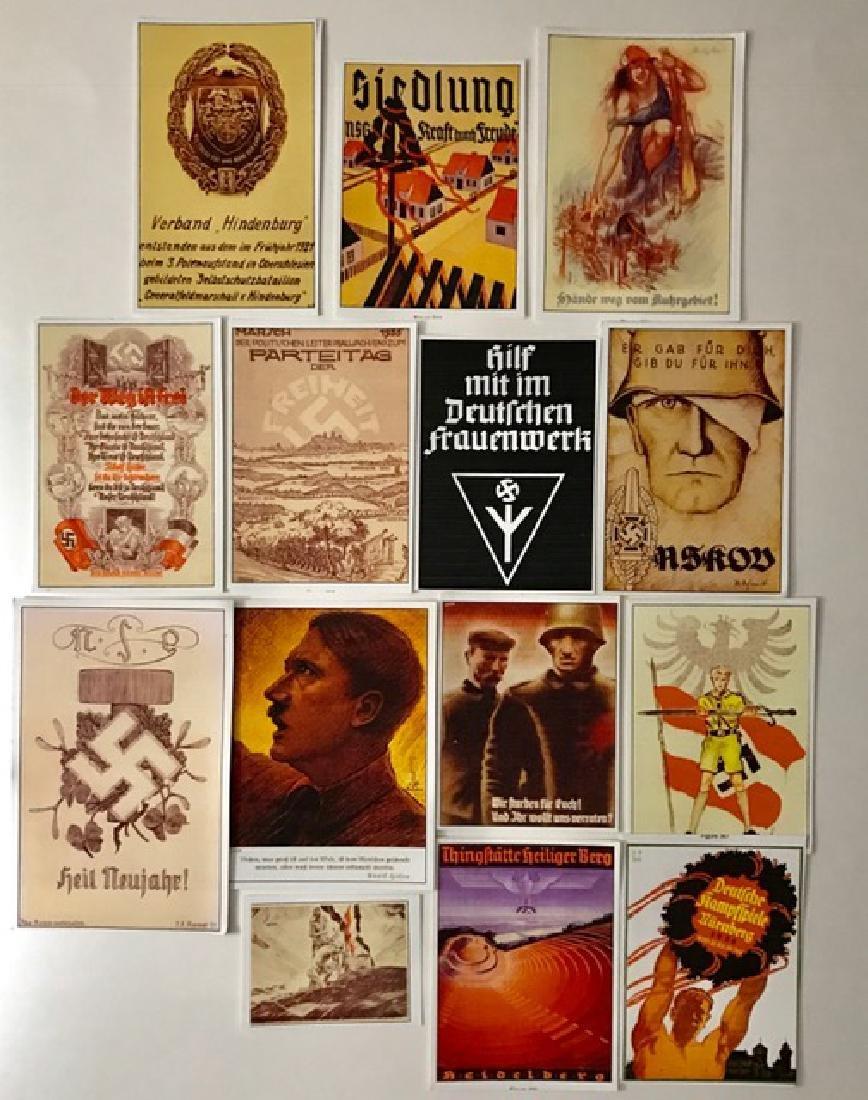Lot of 14 Adolf Hitler Nazi Campaign Propaganda
