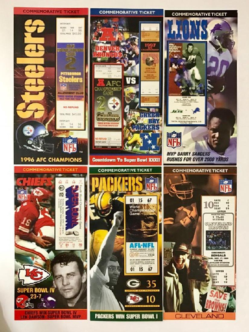 Lot of 6 Rare Historic Football Games Memorabilia