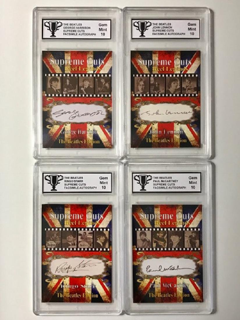 """Lot of 4 """"The BEATLES"""" Autographed Edition Cards"""