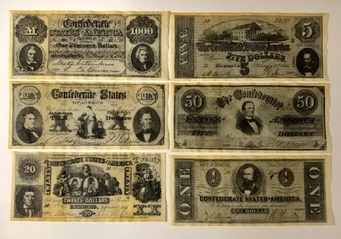 1860's Civil War Confederate Paper Currency READ
