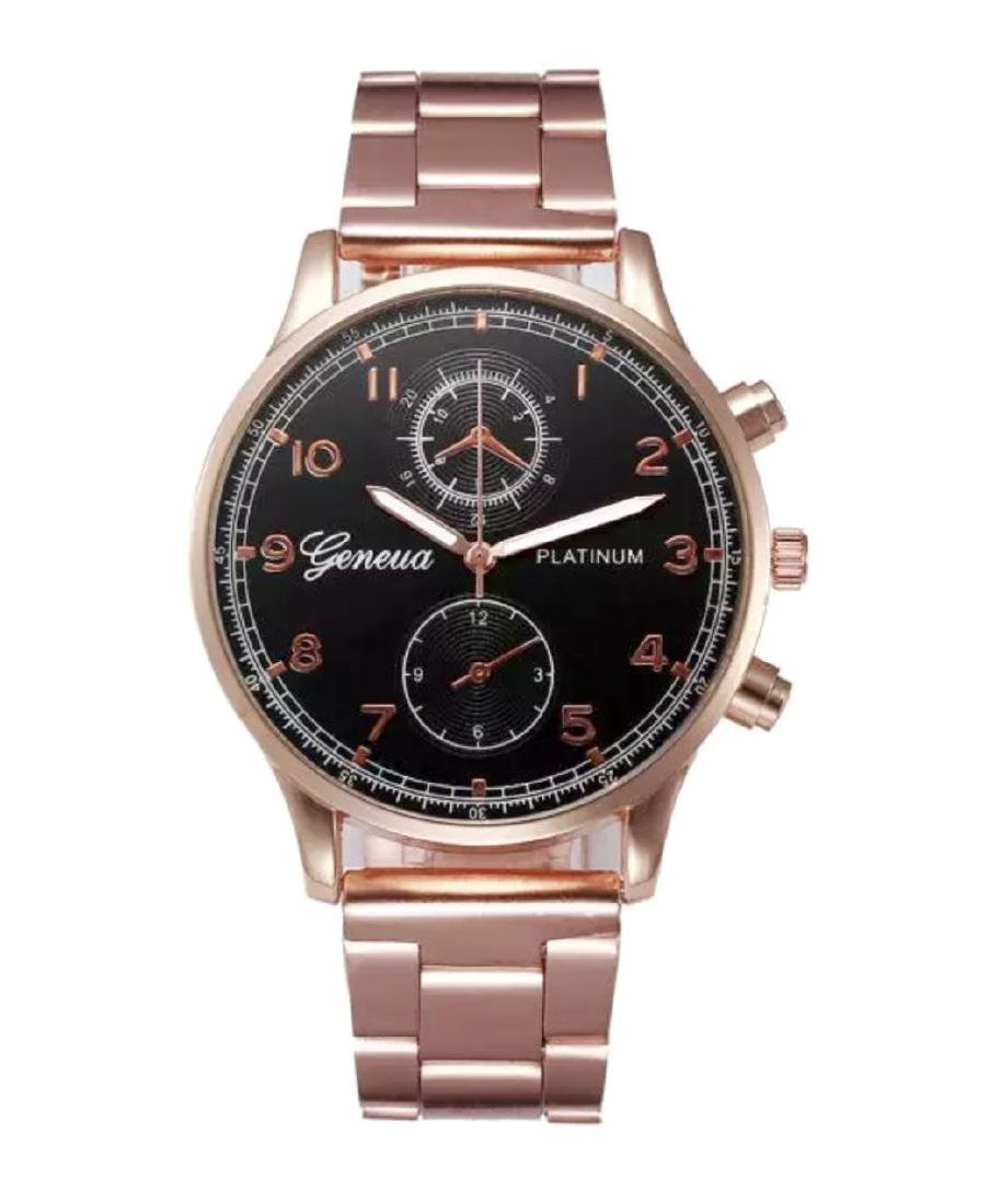 Brand New Men's GENEVA Platinum Wristwatch