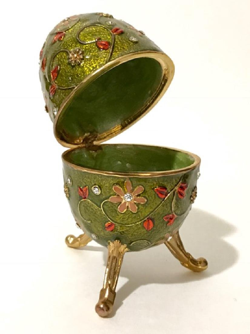 St. Petersburgh Russian FABERGE style Enameled EGG - 2