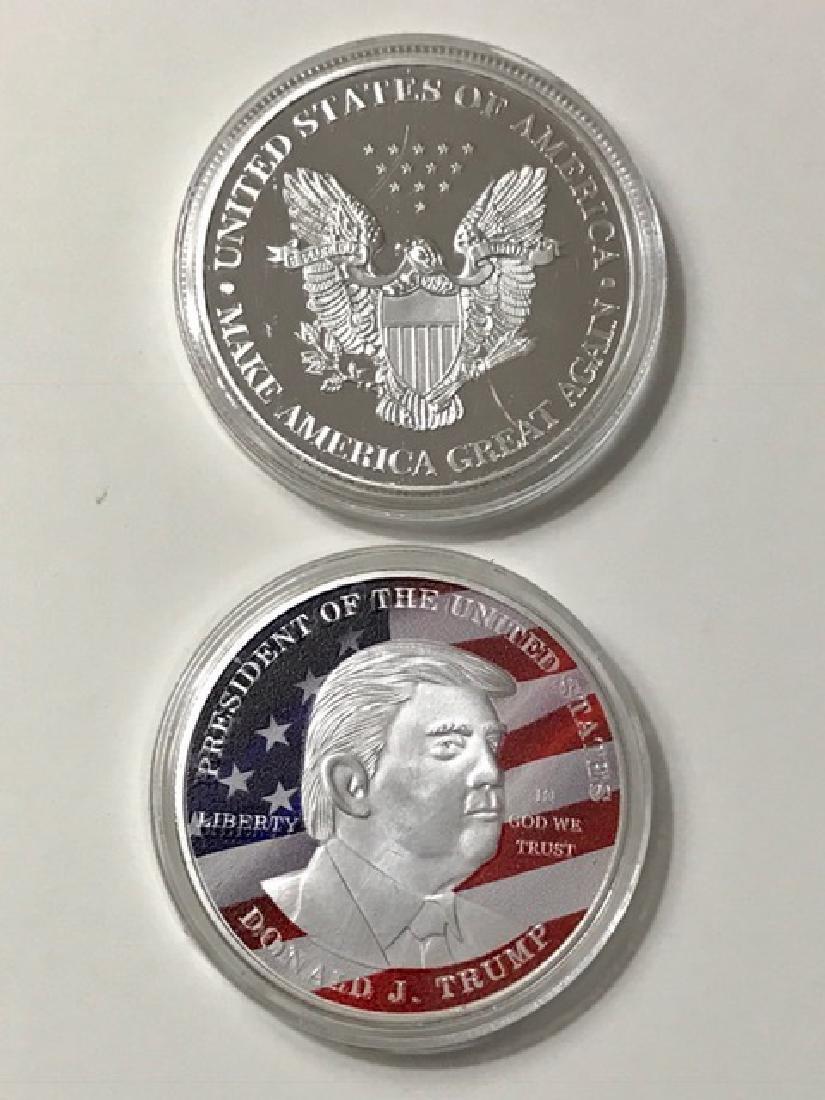 Inaugural 2017 DONALD TRUMP Gold Clad Coin
