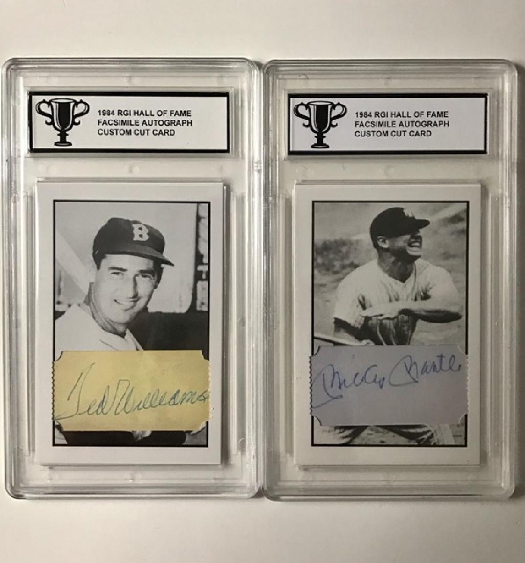 Rare Custom Cut RGI Hall of Fame Baseball Cards