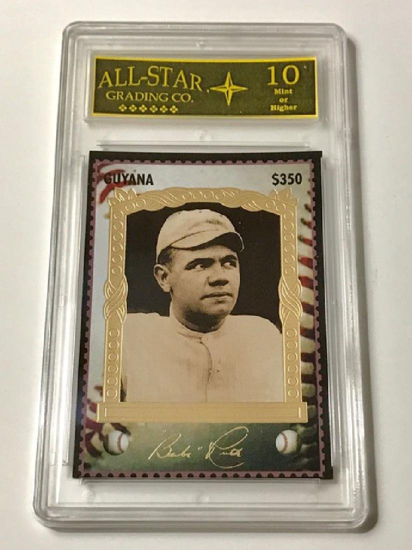 "Rare BABE RUTH Signed ""Guyana"" Baseball Card"