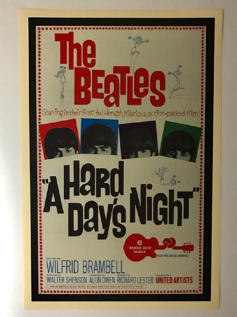 1960's The BEATLES Movie Lobby Card Poster