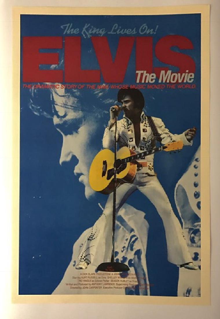 """1979 ELVIS """"The Movie"""" Theatre Lobby Card Poster"""