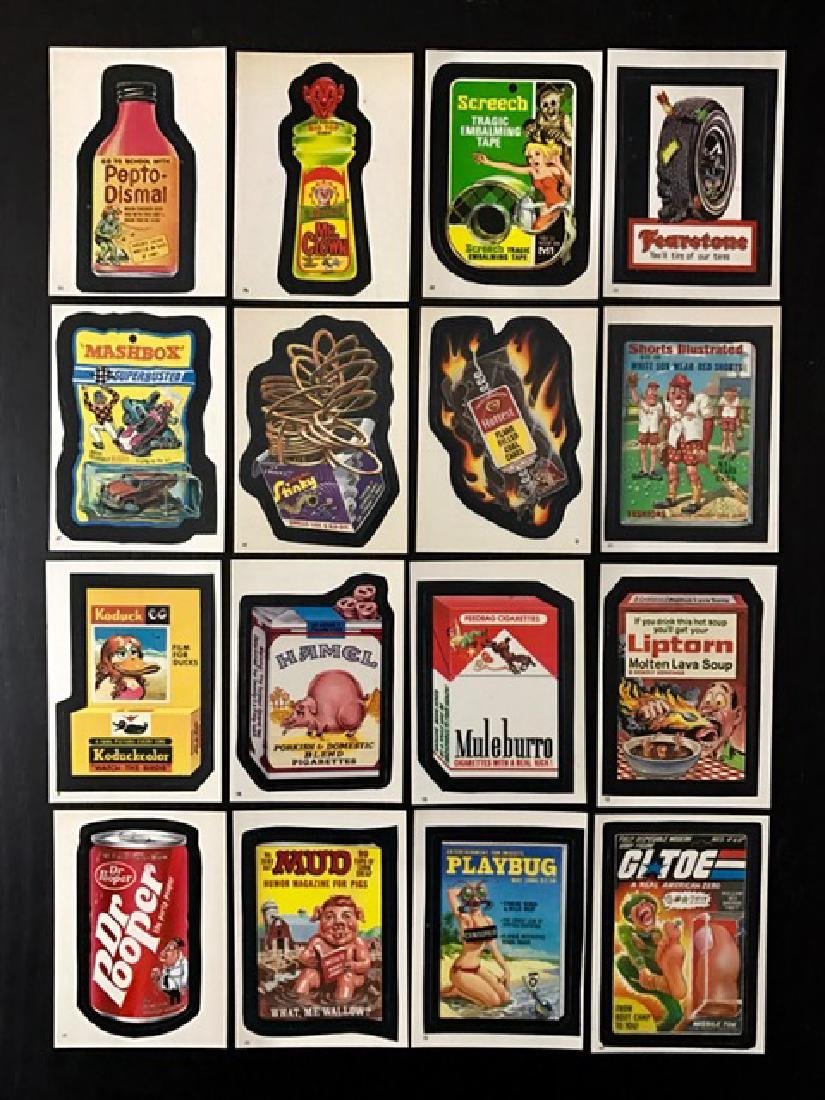 Lot of 16 Rare 1986 TEST Run Wacky Packages Cards