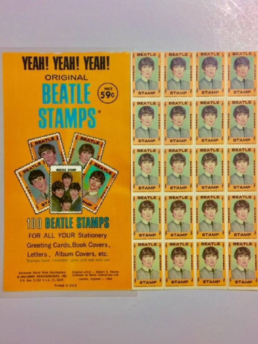 Un-Cut 1964 The BEATLES *George Harrison* Stamps