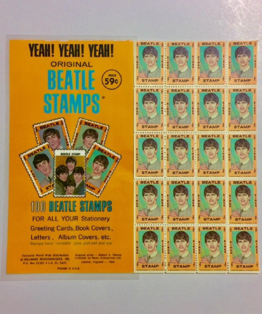 Un-Cut 1964 The BEATLES *Ringo Starr* Stamps