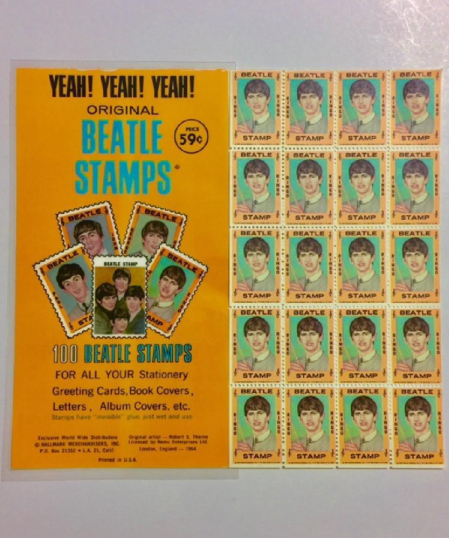 Un-Cut 1964 The BEATLES *Ringo Starr* Stamps