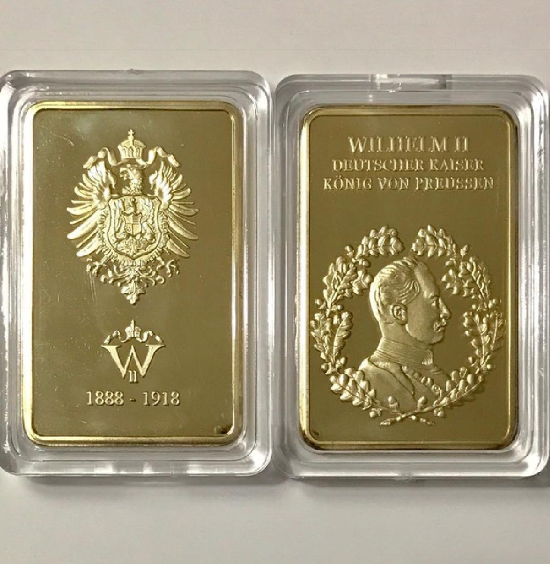 """WW1 German """"KONIG VON PREUSSEN"""" Gold Clad Bar"""