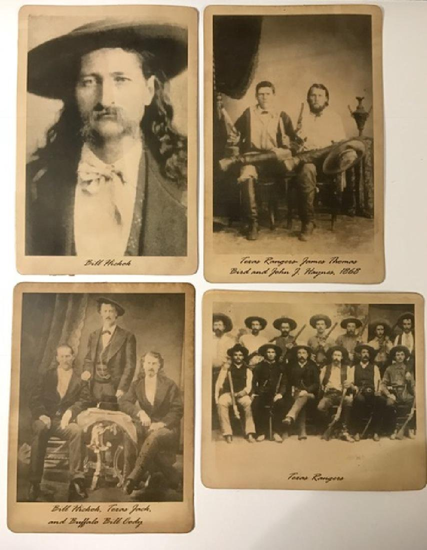 Lot of 4 Infamous Old West Card Stock Photographs