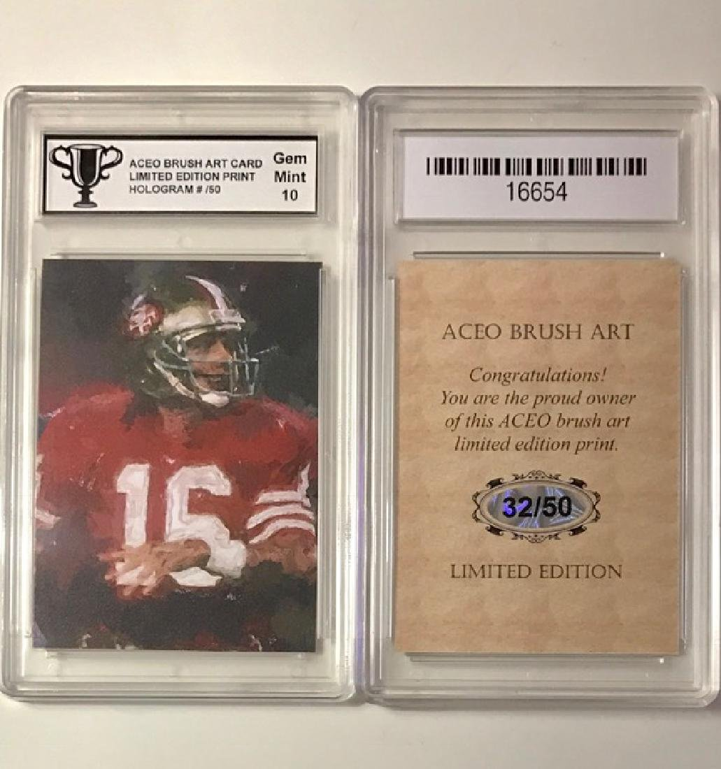 Very RARE Brush Art JOE MONTANA Football Card