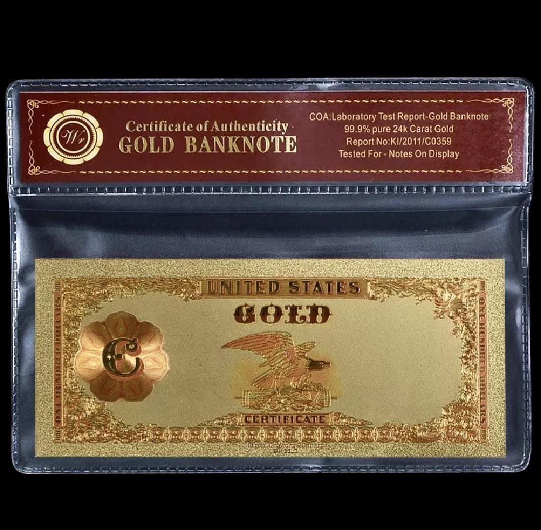 1882 – 24k Gold $100 - U.S. Gold Certificate Bill - 2