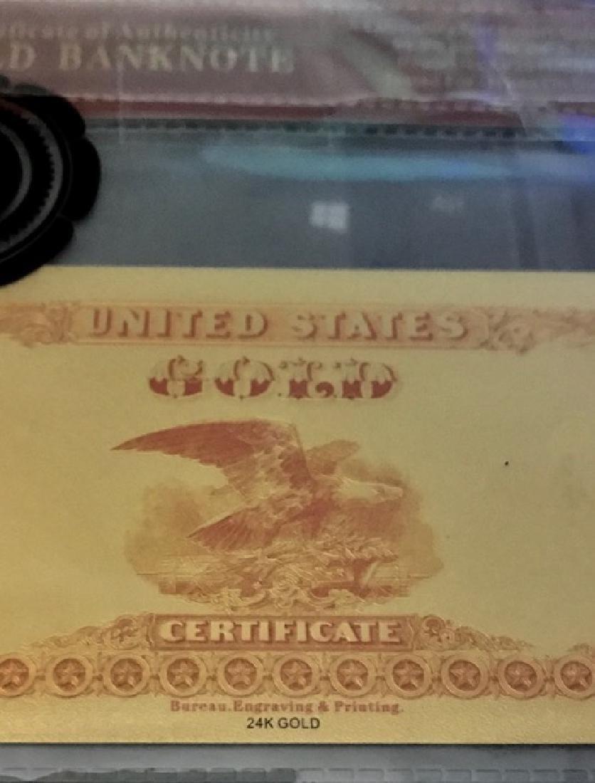 1882 – 24k Gold $100 - U.S. Gold Certificate Bill - 3