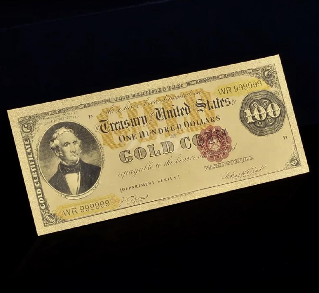 1882 – 24k Gold $100 - U.S. Gold Certificate Bill - 4