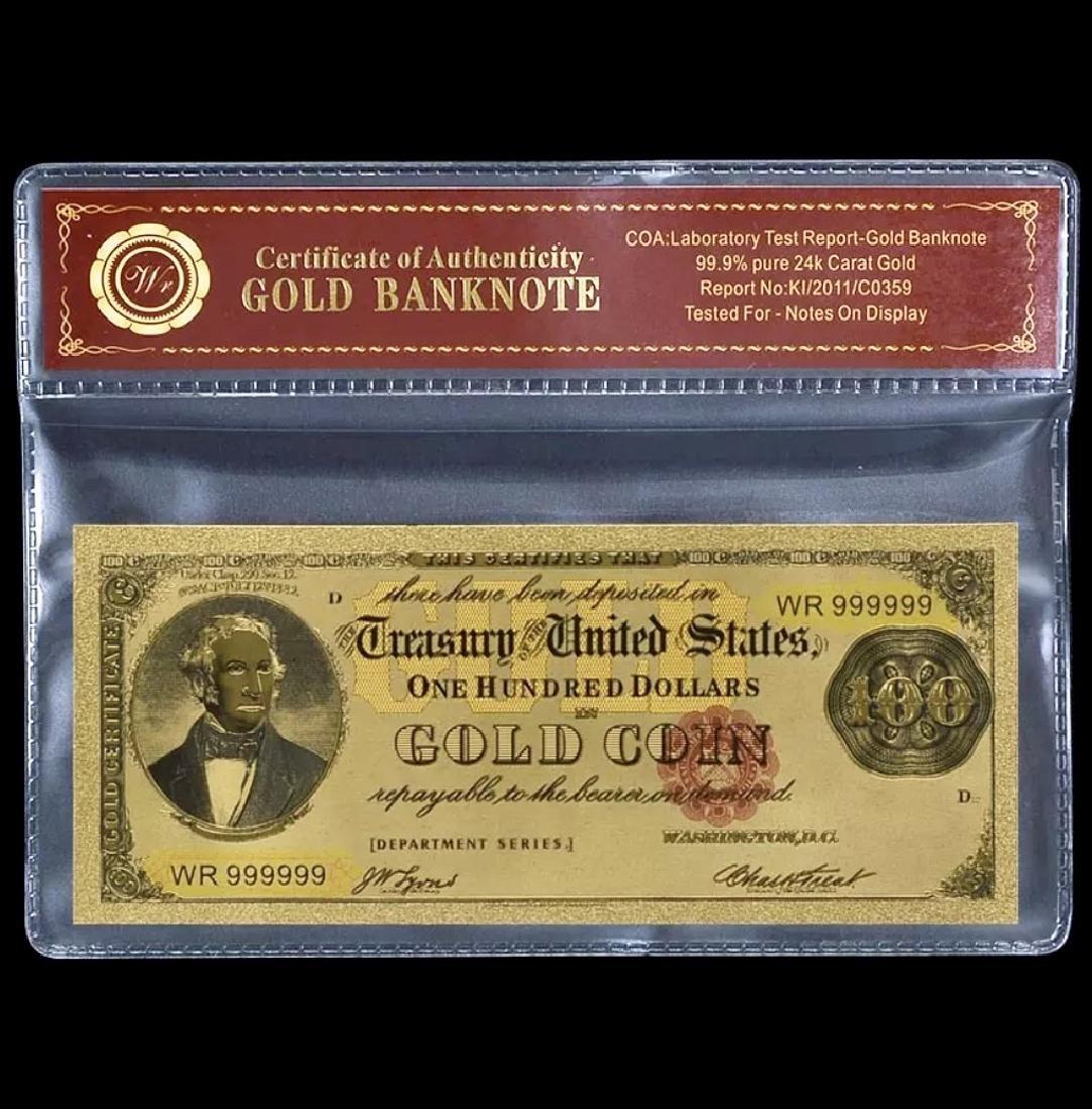 1882 – 24k Gold $100 - U.S. Gold Certificate Bill - 5