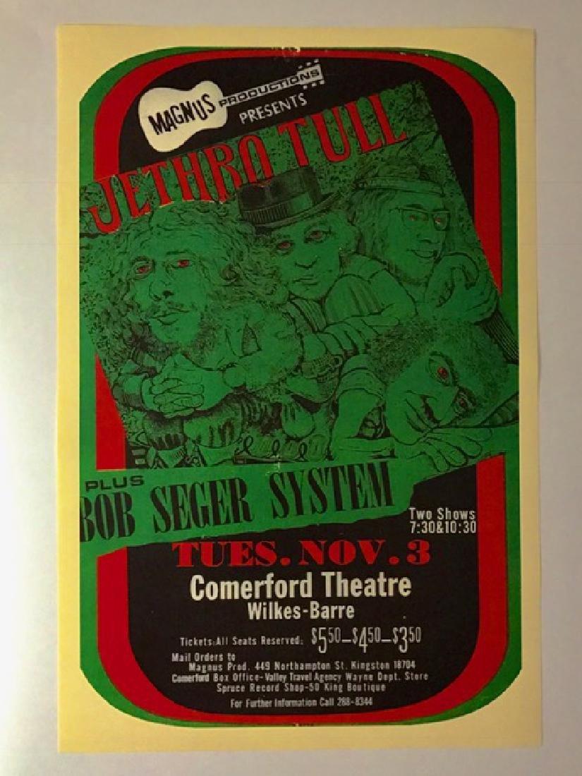 Nov 3rd 1970 JETHRO TULL Music Concert Poster