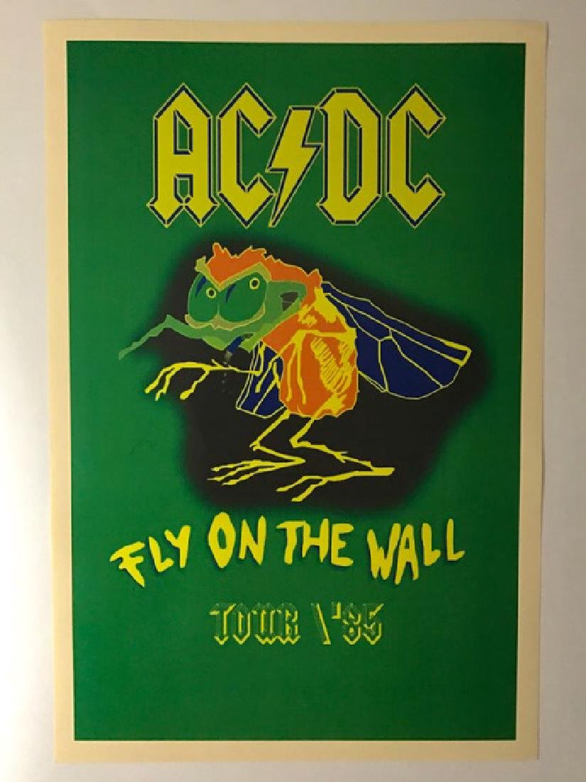 "1985 AC/DC ""Fly on the Wall"" Tour Concert Poster"