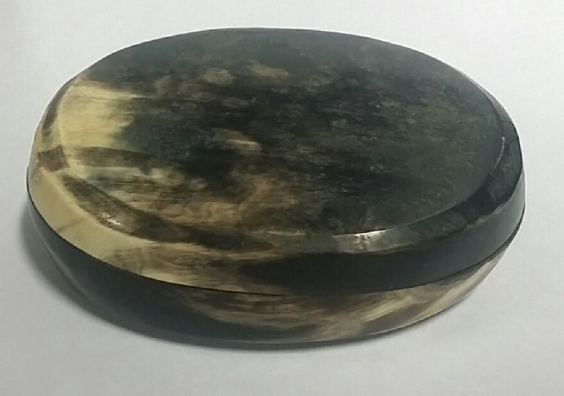 Natural Horn Vintage Trinket Box
