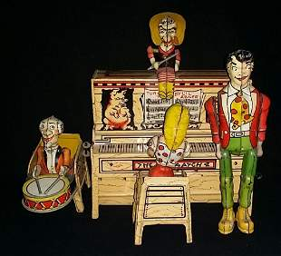 Vintage Lil Abner Band Tin Wind Up Toy