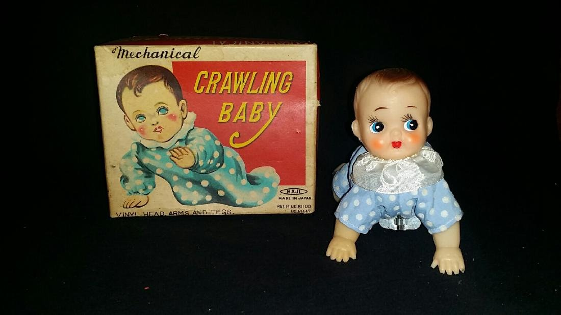 Vintage Japanese Crawling baby Wind Up Toy