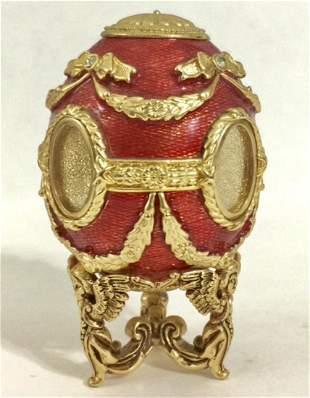 Stunning FABERGE Style Enameled Portrait Egg