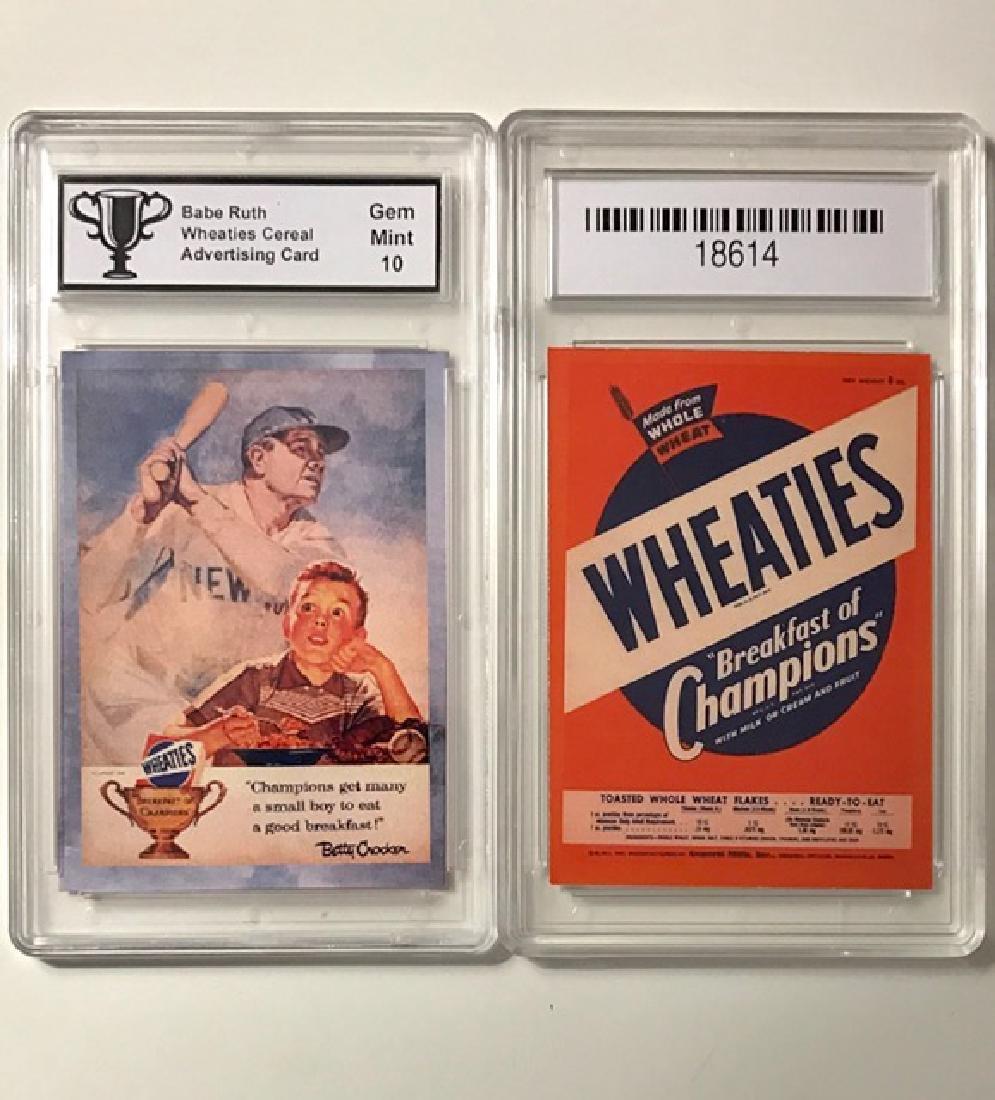 "BABE RUTH - ""WHEATIES"" Advertising Baseball Card"
