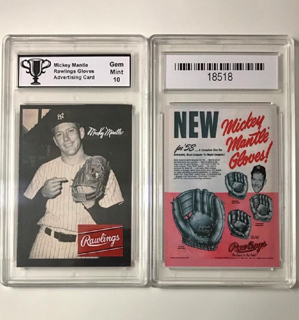 MICKEY MANTLE - Glove Advertising Baseball Card