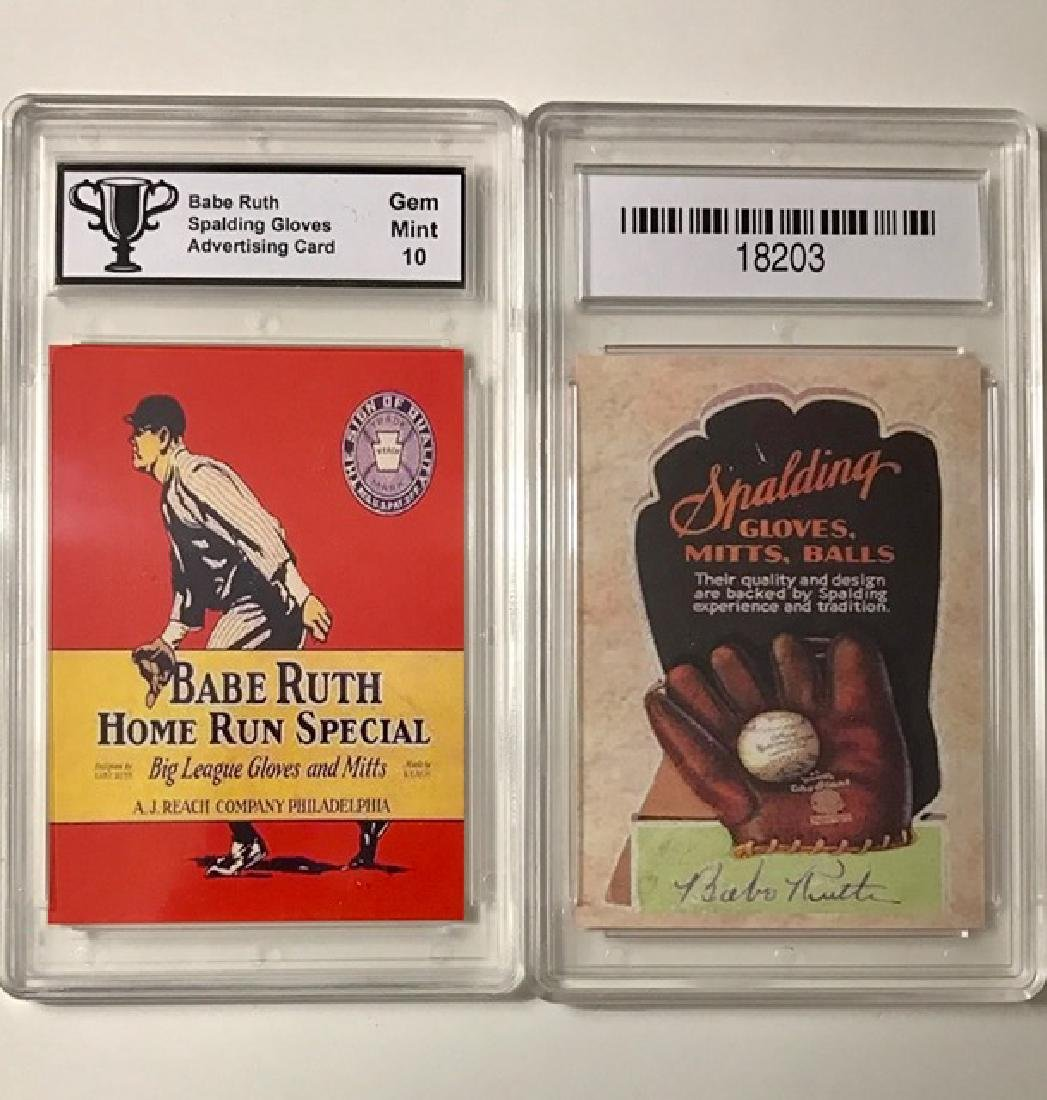 BABE RUTH Baseball Glove Advertising Baseball Card