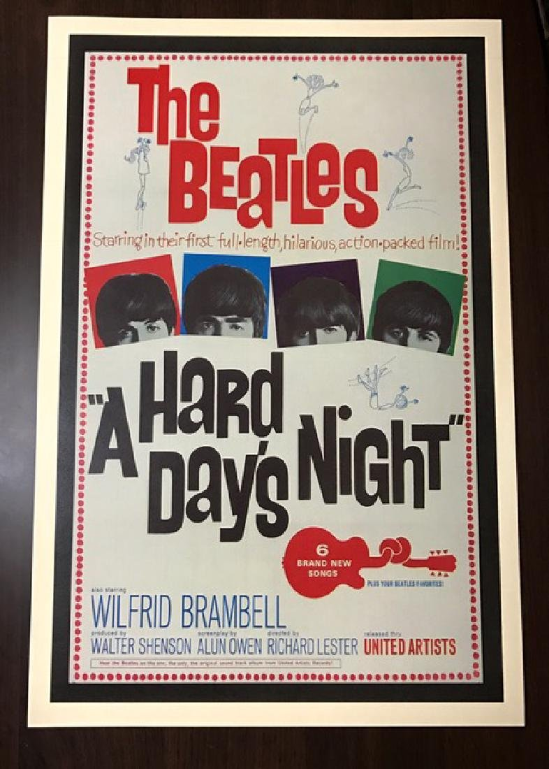 1964 The BEATLES Movie Theatre Lobby Card Poster