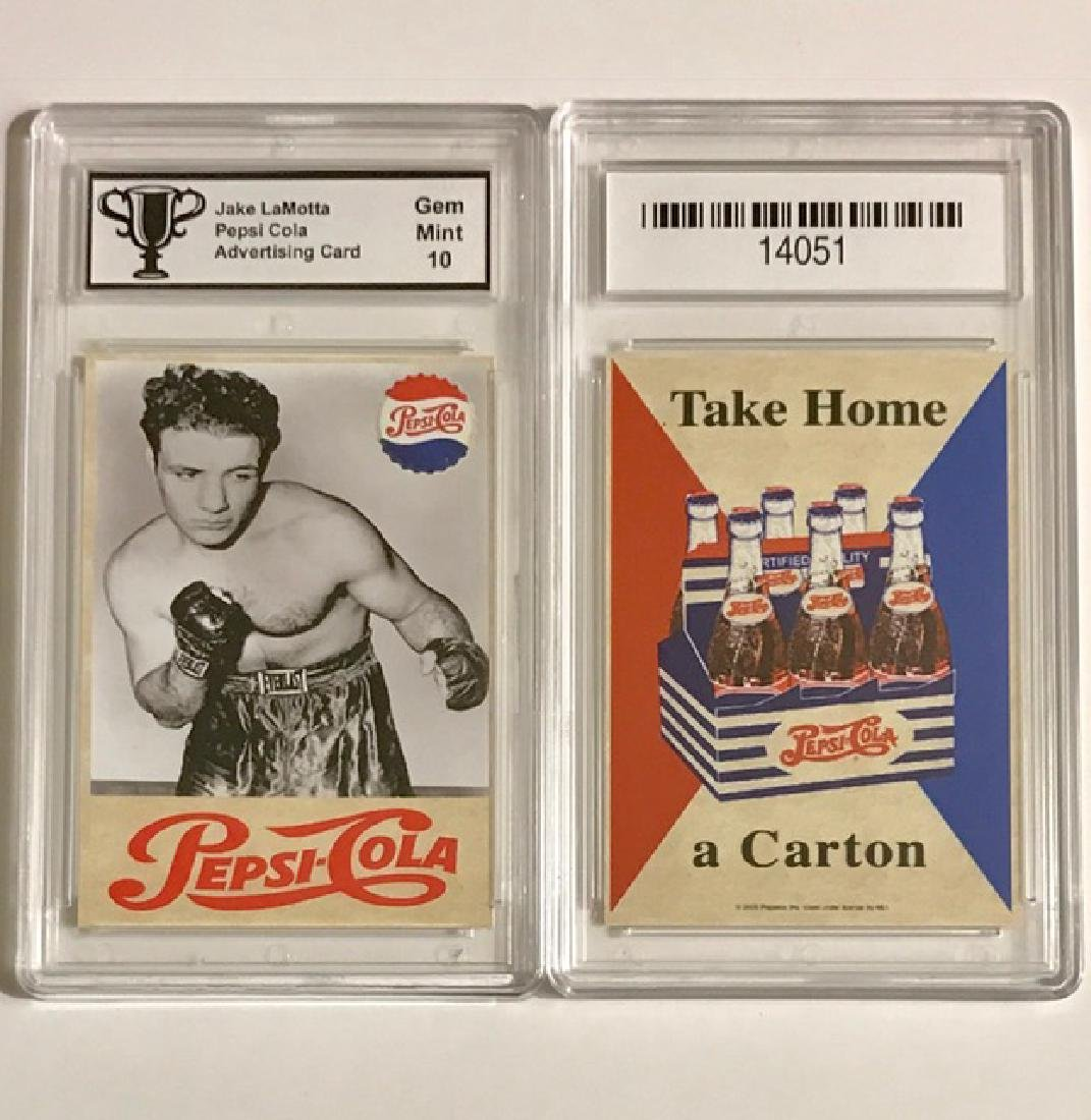 Rare JAKE LAMOTTA Pepsi Cola Advertising Card