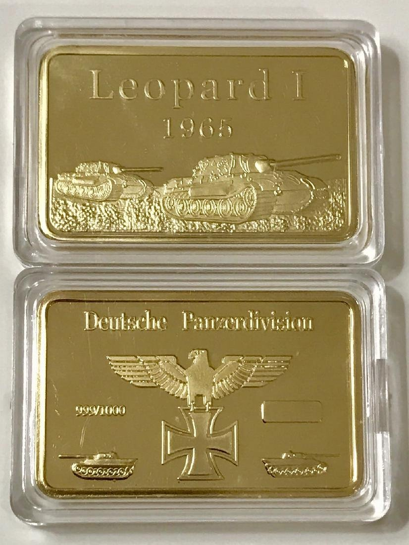 WW2 German Panzer Division .999 Gold clad Bar