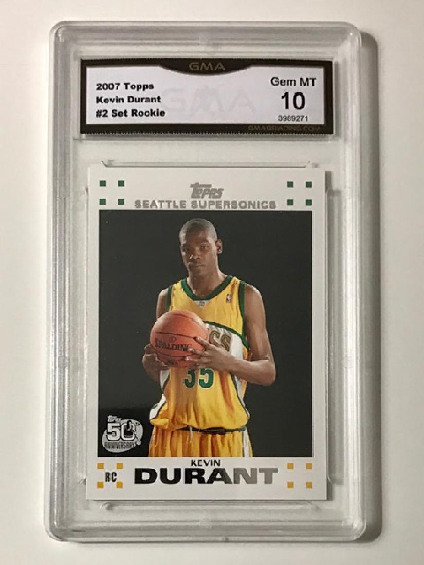 Gem Mint 10 KEVIN DURANT Rookie Basketball Card