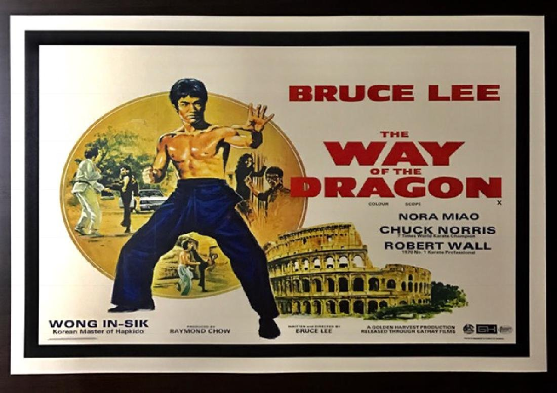 1972 BRUCE LEE Movie Theatre Lobby Card Poster
