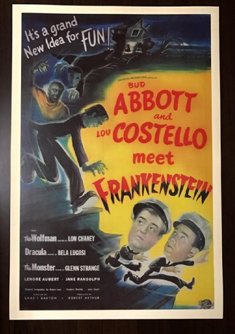 1948 Abbott & Costello Movie Theatre Lobby Poster