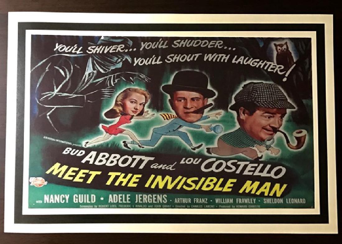 1951 Abbott & Costello Movie Theatre Lobby Poster