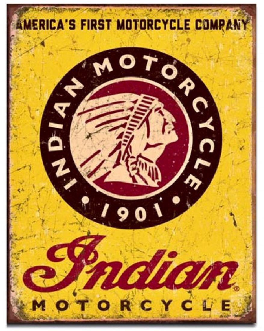 INDIAN MOTORCYCLE Sales Nostalgic Metal Sign