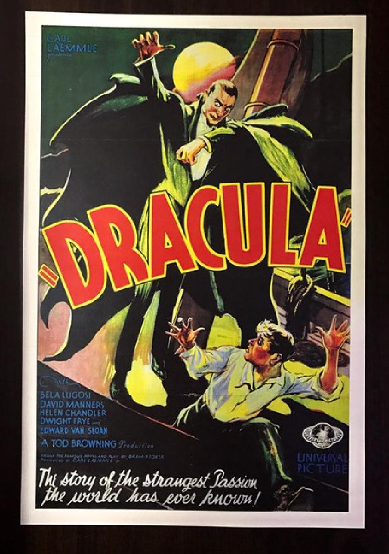 1931 Dracula Movie Theatre Lobby Card Poster